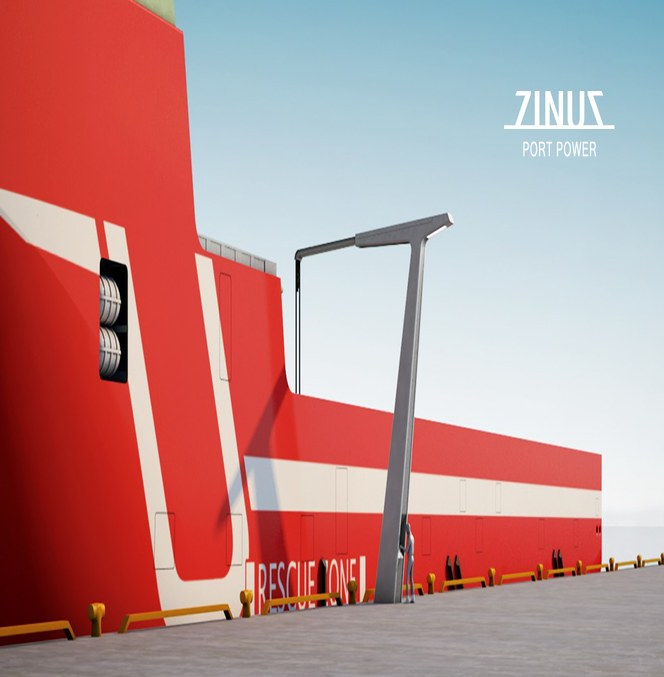 Zinus Port Power er en innovativ løsning for landstrømstilkobling fra LOS Elektro og utviklet i samarbeid med LAPP Norway (Miltronic).