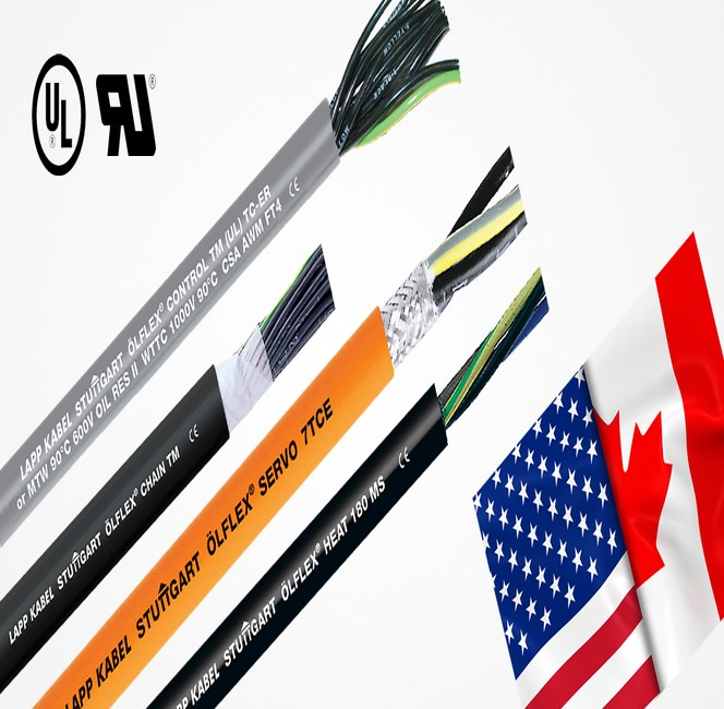 UL godkendte kabler fra LAPP - UR - AWM og CSA godkendelser