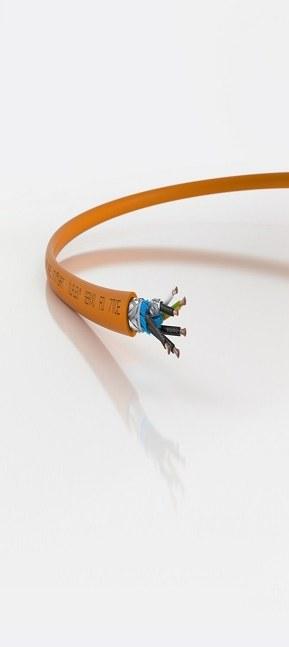 ÖLFLEX SERVO FD 7TCE este utilizabil ca si cablu de comanda, pentru cablarea dulapurilor sau in aplicatii lant port cablu.