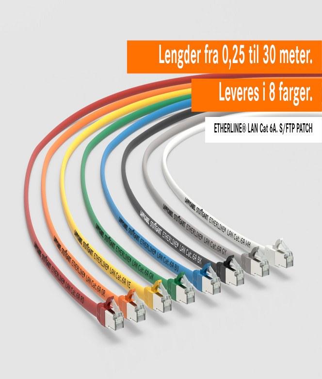 Patchkabler med smal tilkobling i høy kvalitet fra LAPP Norway