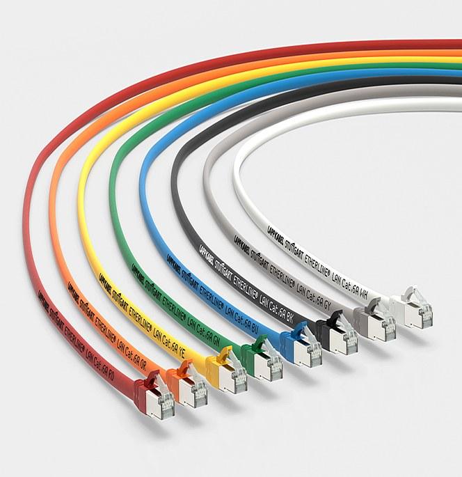 UL-godkendte patchkabler – ETHERLINE® LAN Cat.6A: Det pålidelige patchkabel til global eksport