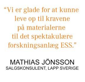 Citat Mathias Jönsson, LAPP Sverige