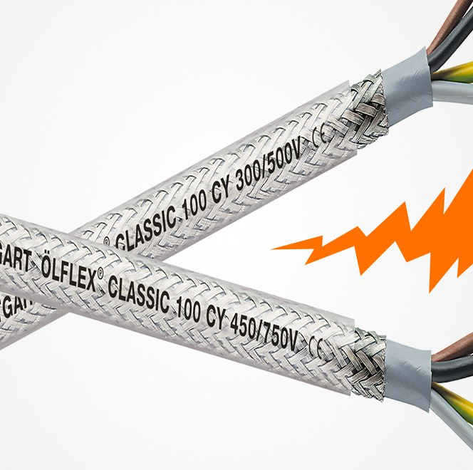 ÖLFLEX® CLASSIC 100 CY splittes i to varianter
