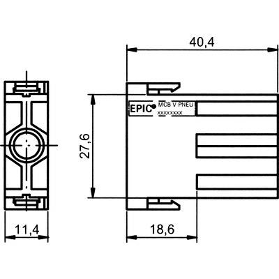 EPIC® MC Modulinsats pneumatik 1-polig