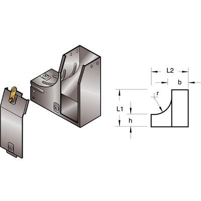 L-avgrening innerstigare med vänstersväng 90°