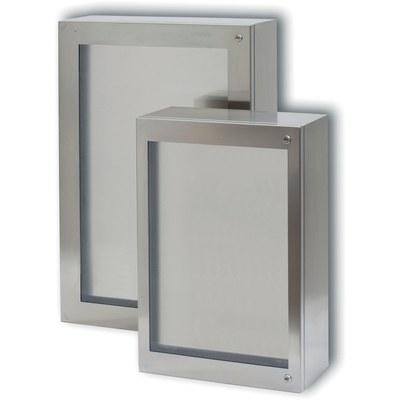 CLN - Rostfria väggskåp med transparent dörr