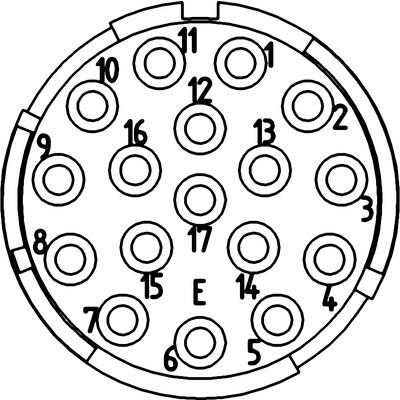 Inserts 17 pôles D-Sub EPIC® SIGNAL M23