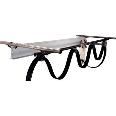 Kabelvagnssystem för C-profilskenor i rostfritt stål