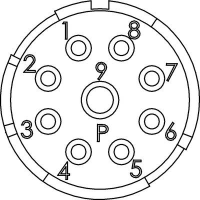 EPIC® SIGNAL M23 Einsätze 8+1 polig