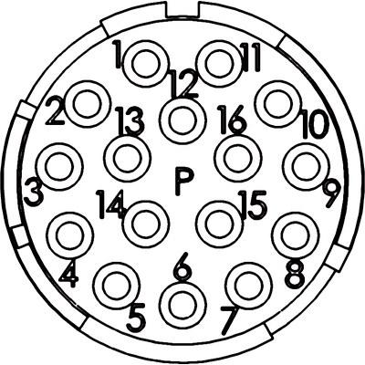 Insertos de 16 polos EPIC® SIGNAL M23