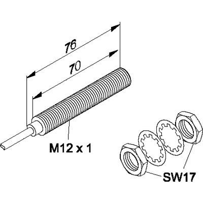 Induktiv givare - För höga temperaturer M12