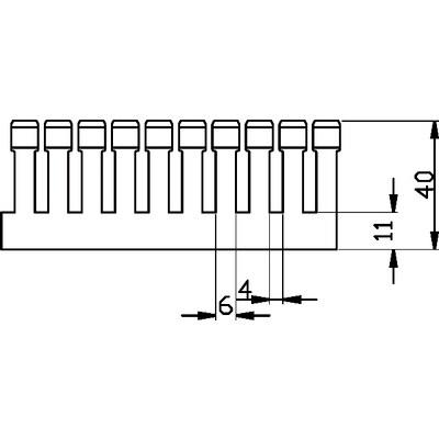 Kabelkanaler, smal slits halogenfria