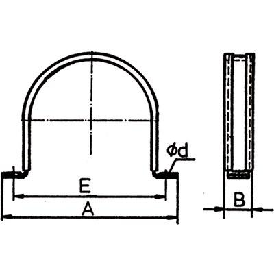 Slanghållare MES1B & 2B