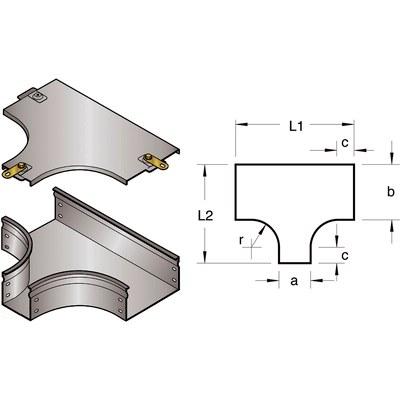 T-avgrening liggande med smalare öppning