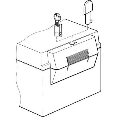 Tillbehör RegloCard Plus - Cylinderlås/Vred