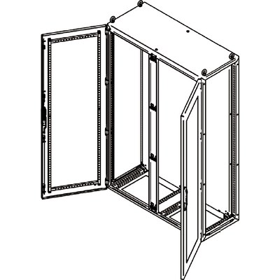 """SLD - """"SPEED"""" Rostfria golvskåp med transparent dörr, fristående eller för ihopbyggnad"""