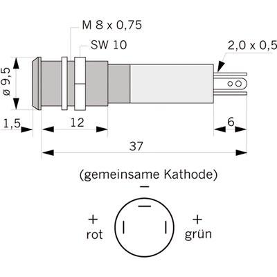 Panelindikator 192A, 10 mm/M14 EXTRA STARK
