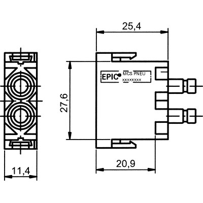 EPIC® MC Modul Pneumatik 2pol.
