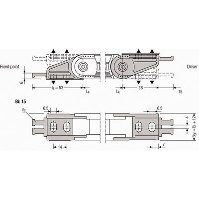 Ändfästen UA1320, Easytrax och Quicktrax