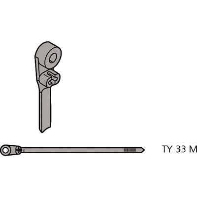 Ty-Rap® Kabelbinder mit Stahlzunge zum Anschrauben
