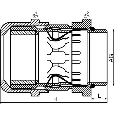 EURO-TOP EMC-förskruvning i förnicklad mässing