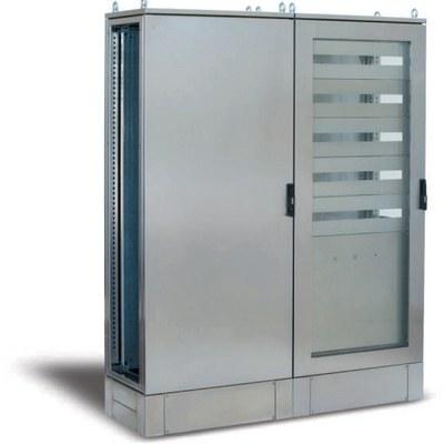 """EML - """"EGO"""" Flexibla rostfria golvskåp med transparent dörr, fristående eller för ihopbyggnad"""