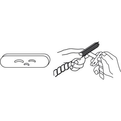Инструмент для намотки пластмассовых спиралей на кабели