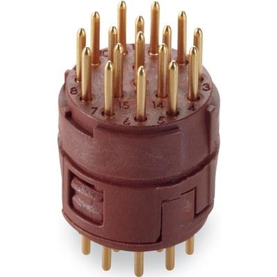 EPIC® SIGNAL M23 Изоляторы, 17 конт. для пайки на печатных платах