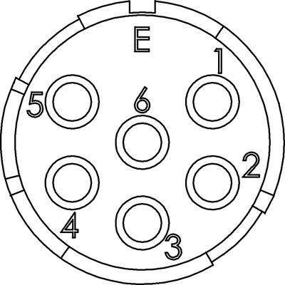 EPIC® SIGNAL M23 Einsätze 6-polig
