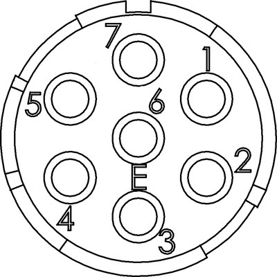 Вставки EPIC® M23, 7-пол.