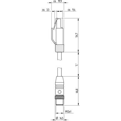 M12 rak hane D-kod till RJ45