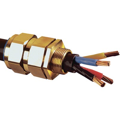 CW Förskruvning i mässing för armerad kabel