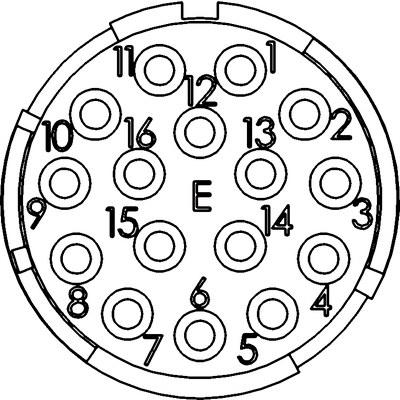 Вставки EPIC® M23, 16-пол.