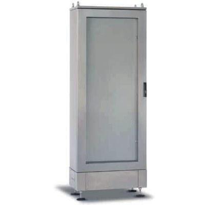 "SLS - ""STEEL"" Rostfria golvskåp, fristående med transparent dörr"