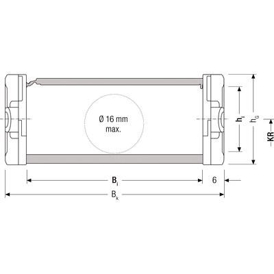 QUICKTRAX 0320 innerhöjd 20 mm