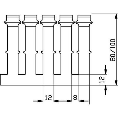 Kabelkanaler, bred slits, PVC
