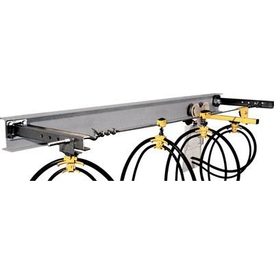 Systém kabelových vozíků, ocelové lanko