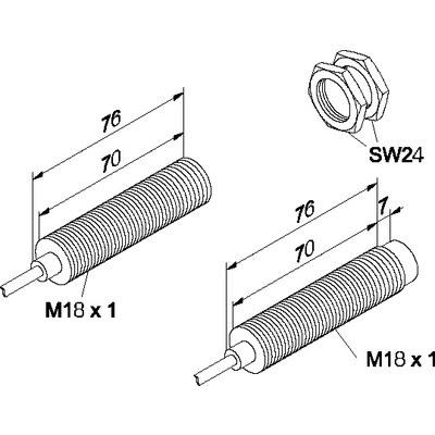 Induktiv givare - För höga temperaturer M18F