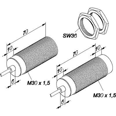 Induktiv givare - För höga temperaturer M30