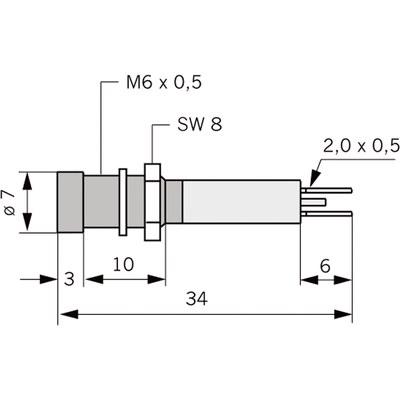 Panelindikator 1903, 3 mm/M6 std