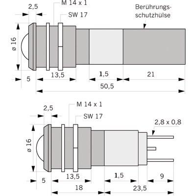 Panelindikator 1935, 10 mm/M14 230 V