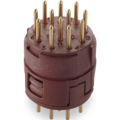 Inserts 12 pôles soudure PCB EPIC® SIGNAL M23
