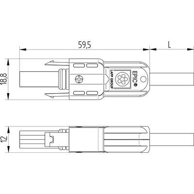 EPIC® SOLAR 4 THIN F (розетка) с кабелем