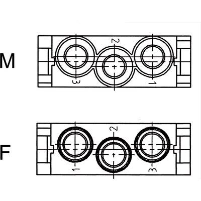 EPIC® MC modulinsats: hög spänning 3-polig