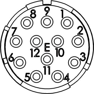 EPIC® SIGNAL M23 Einsätze 12 pol. Einlötversion