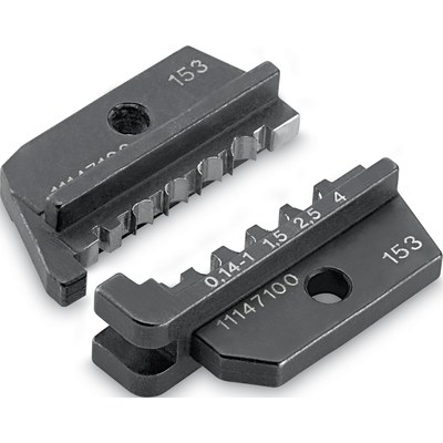 Crimping dies for single contacts