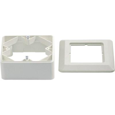 Корпус для настенного монтажа (84x84 мм) и защитные рамки