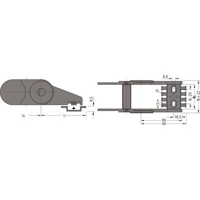 Ändfästen standard UNIFLEX 0555
