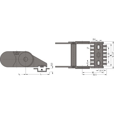 Ändfästen standard UNIFLEX 0665