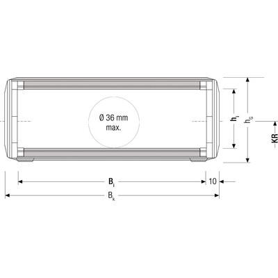TKA55 tubsläpkedja innerhöjd 45 mm